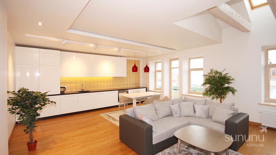 Sunny duplex apartment in city center