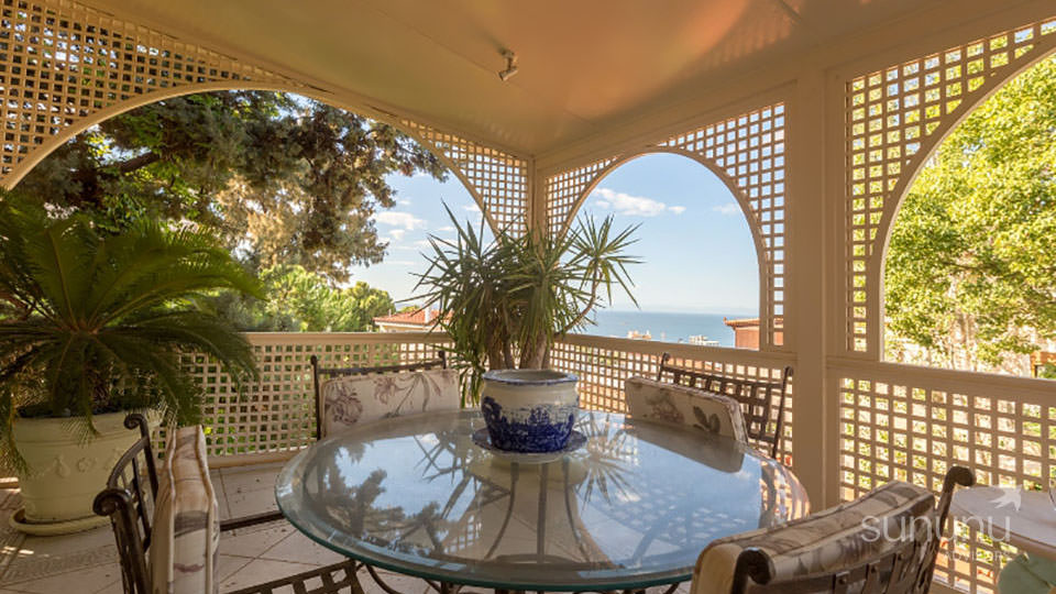 Lovely alfresco dining space of celebrity villa in Athens