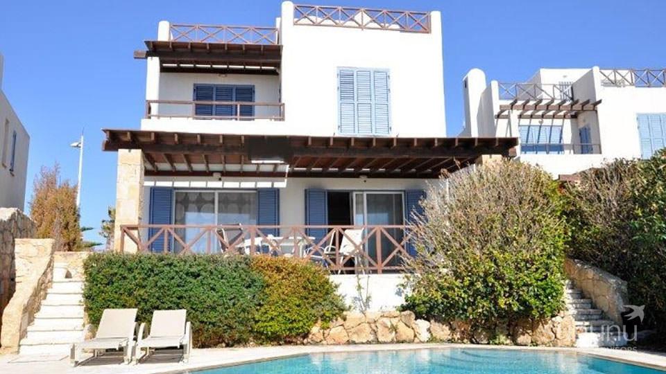 Landscaped setting of seaside villa in Paphos
