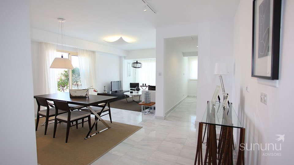 Stylish modern interiors of apartment in Paphos