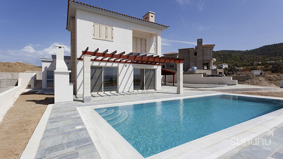 Contemporary villa in Polis with sea views and its own swimming pool