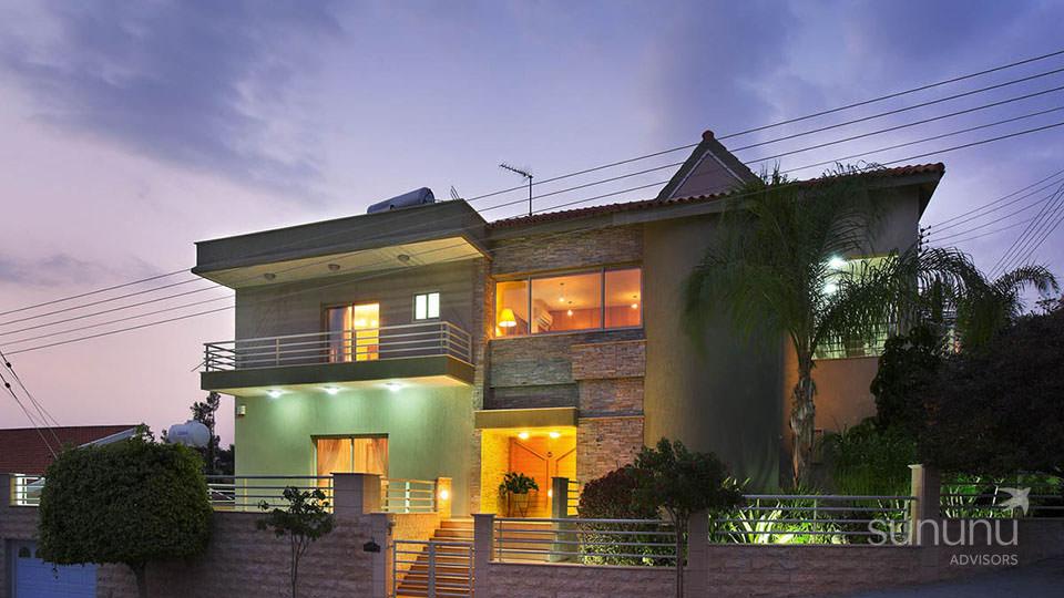 Impressive exterior of prime villa in Limassol