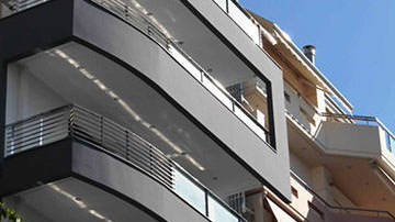 Contemporary exterior finishes of penthouse in Athens