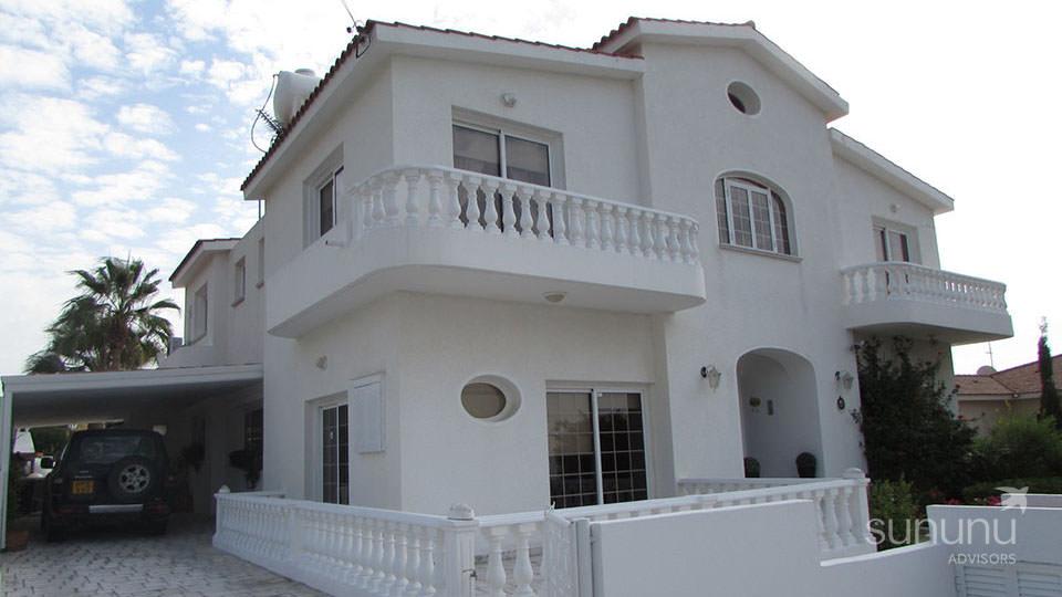 Charming Mediterranean exterior of prime villa in Paphos