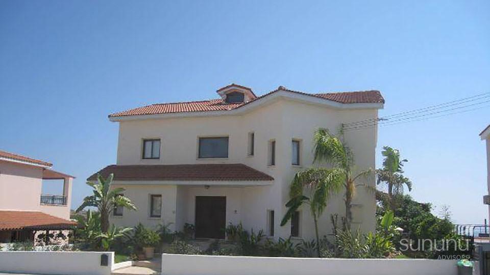 Exterior of spacious Konia Village villa in Paphos