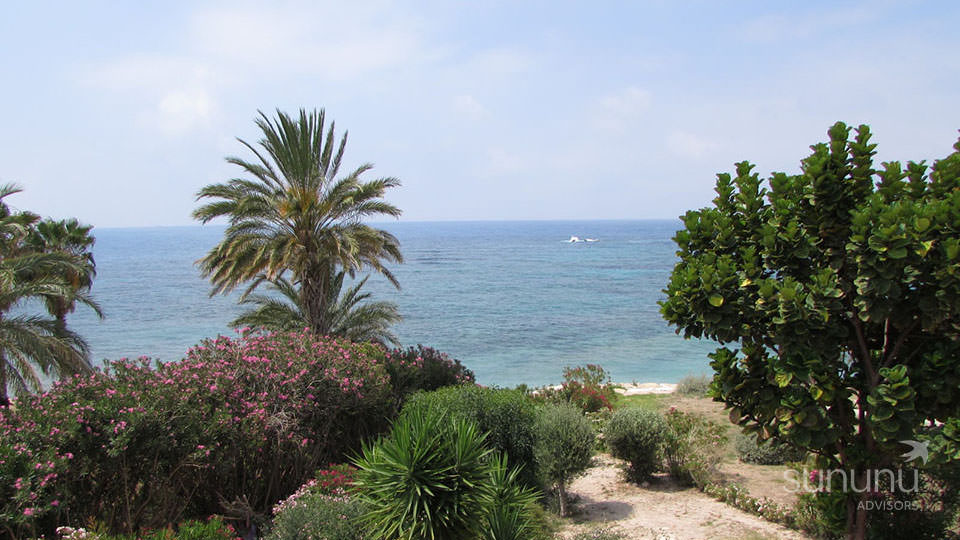 Direct beach access and stunning sea views from Coral Bay villa in Peyia
